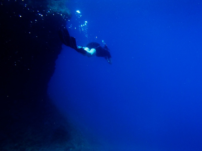 One of my first diving attempts in Makarska, Croatia (2012)