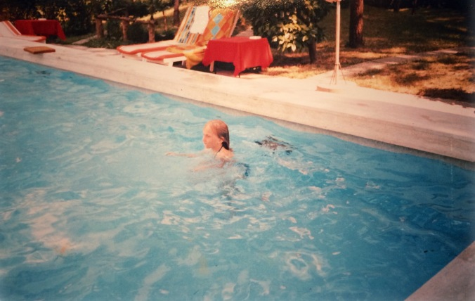Swimming as a child
