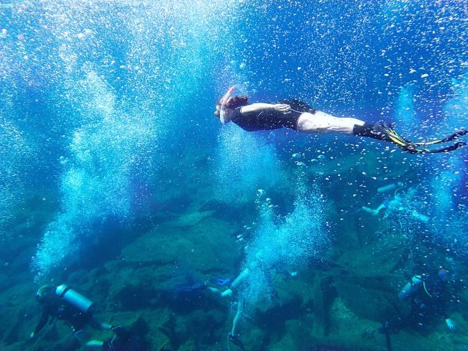 Divingat the Wreck of Vera K, Cyprus (2013)