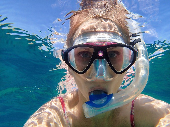 Breathing through a snorkel was a pain for me at first