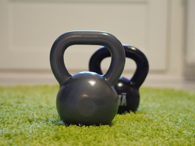 Kettlebells kept me motivated for a while. I still use them for supportive training.