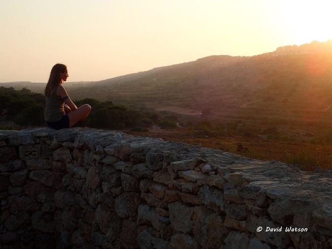 Meditating in Xemxija, Malta (2015)