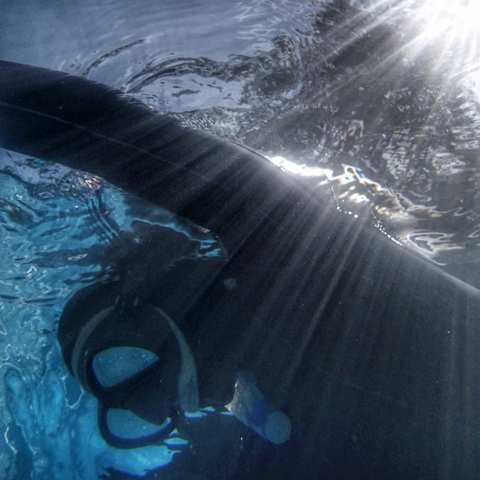 One of my first static apnea dives
