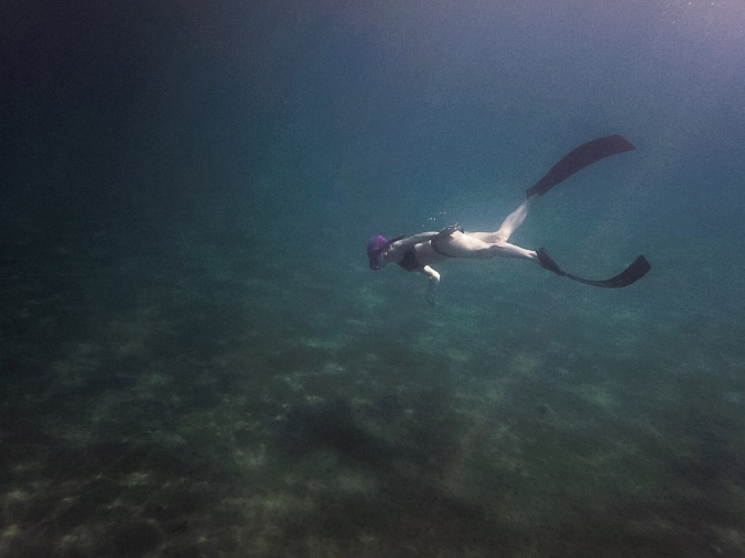 Diving with bifins in Thassos (2016)