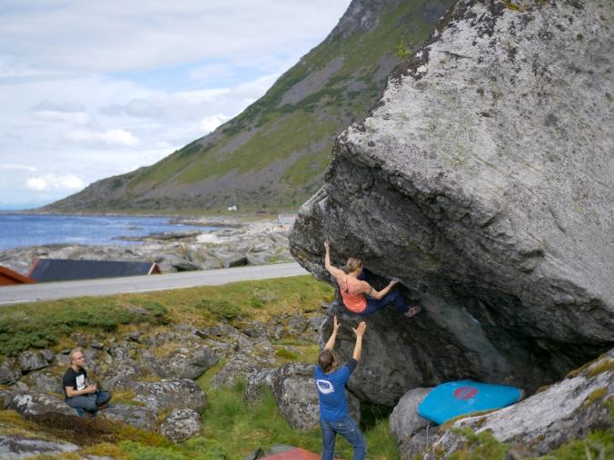 Old Man and the Sea (7B+). Tämä reitti ei ihan mennyt, mutta jääpähän jotain tekemistä seuraavallekin vuodelle. Kuva: Jani Lehtola.